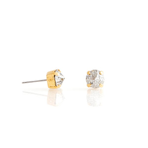 Gold Swarovski crystal stud earrings