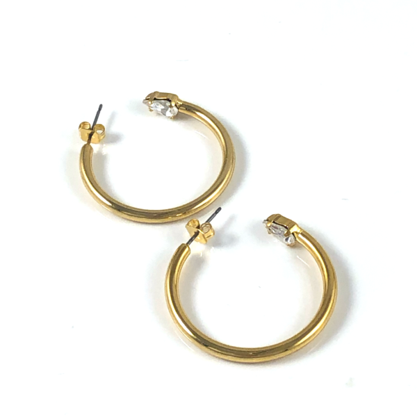 MILANO Hoop Earrings Gold