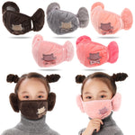 Load image into Gallery viewer, 2 in 1 Kids Warm face Mask Earmuffs