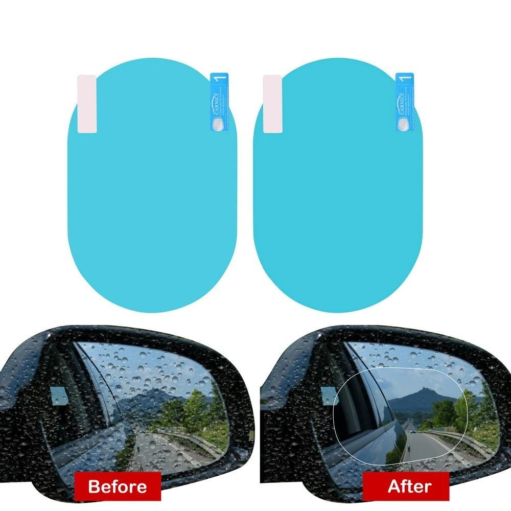 2/4pcs Anti Rain & Fog Car Mirror Films Waterproof