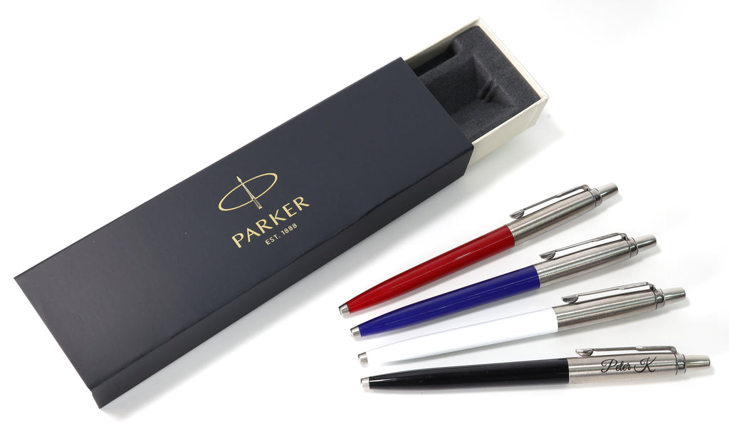 Personalised Custom Parker Jotter Pen + Gift Box | Design A Truly Unique Present | Laser Engraved