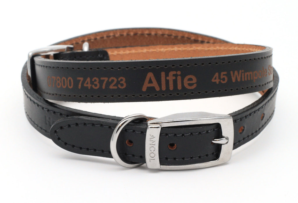 Personalised Custom Leather Dog Collar