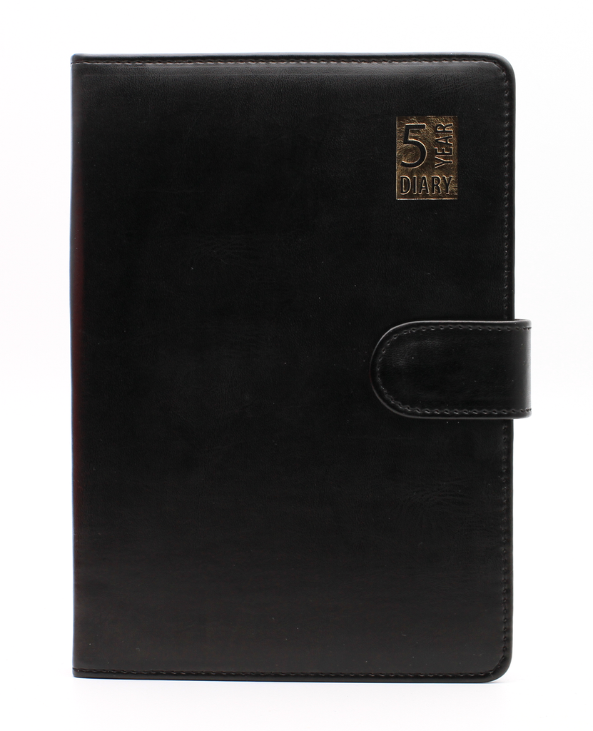 Personalised Premium 5 Year Diary Organiser A5 size Faux Leather