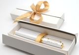 Personalised Premium White Metal Rollerball Pen + Gift Box