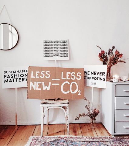 Sustainable fashion campaign