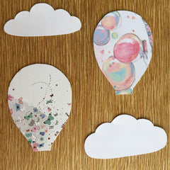 Cloud and Hot Air Balloon Cut Outs
