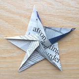 Recycled Newspaper DIY Origami Star