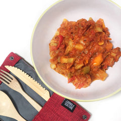 Vegetable Stew with our bamboo cutlery set