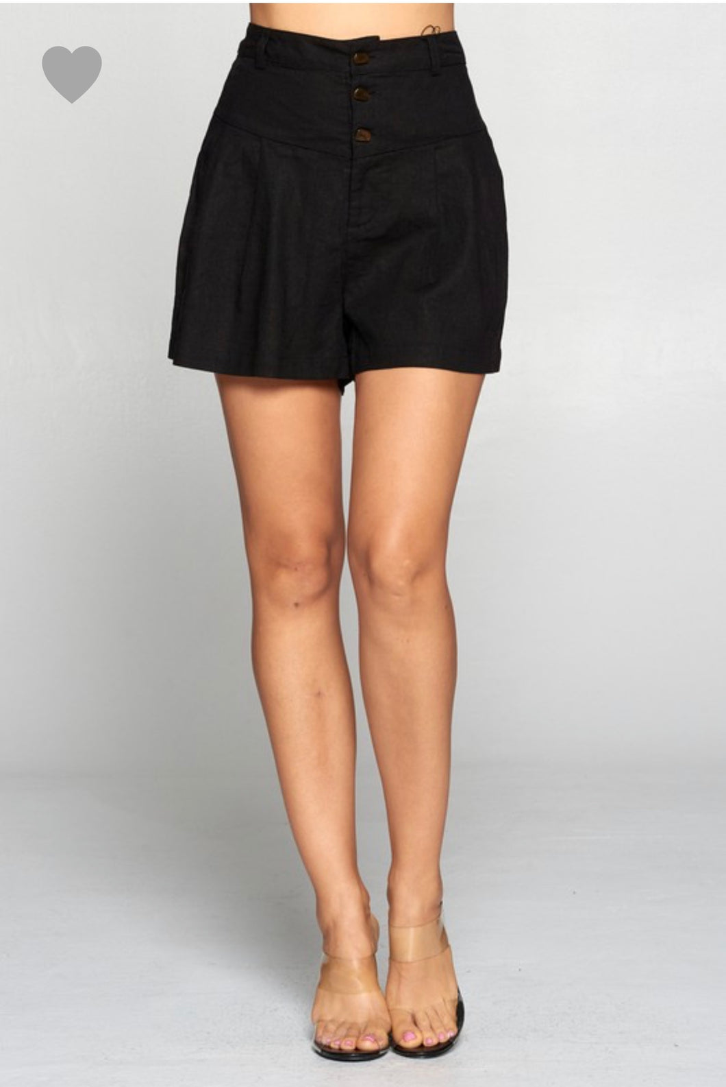 Paper Bag Shorts Black