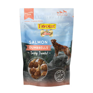 Favour Salmon Dumbells 100g