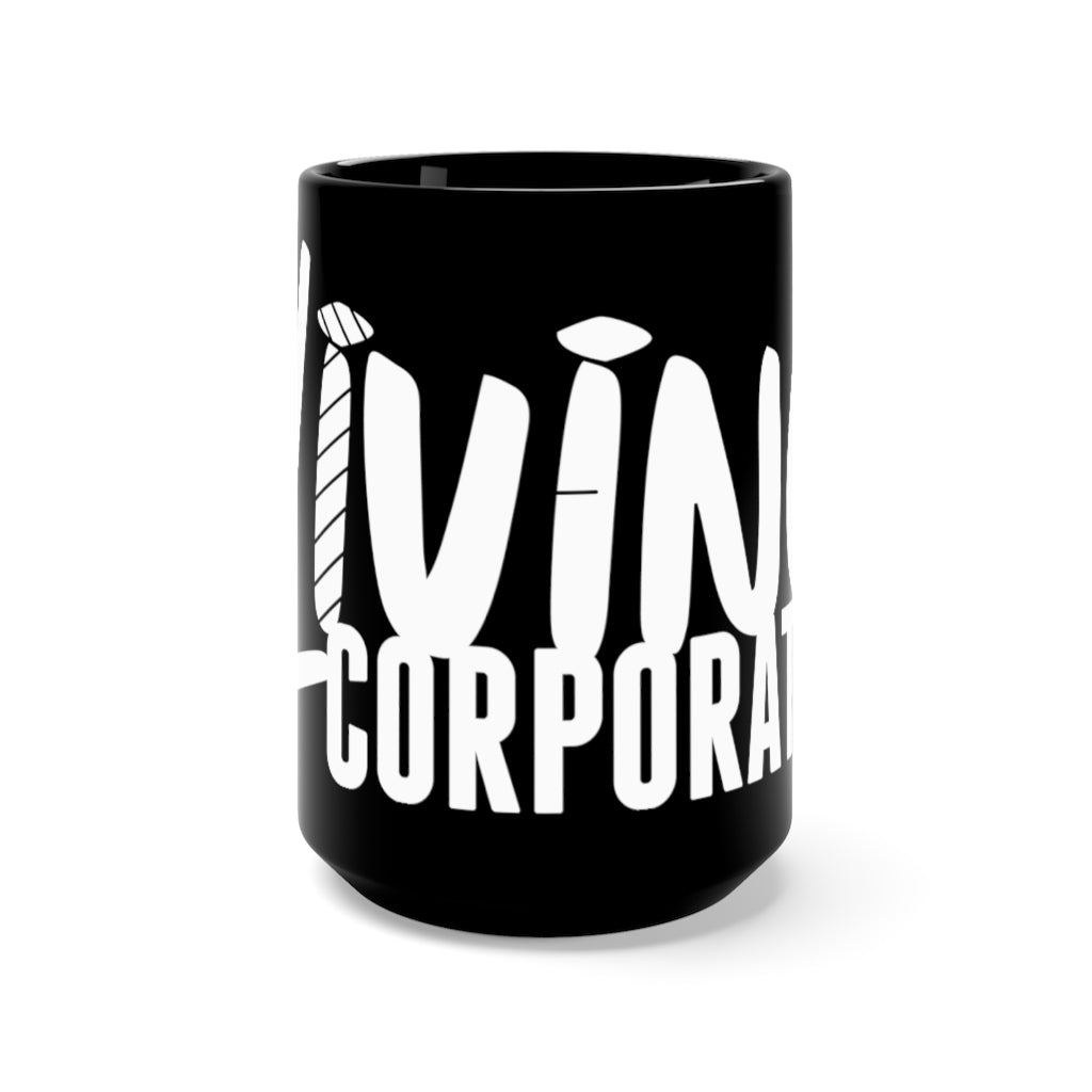 Living Corporate Black Mug 15oz