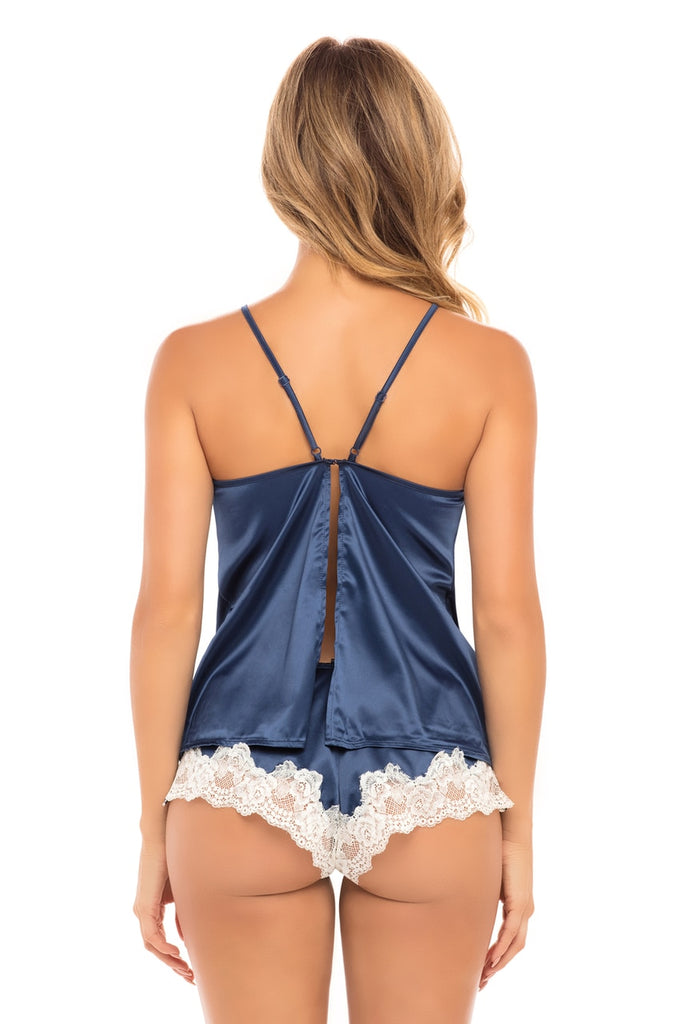 Selene Satin and Lace Cami and Short Set