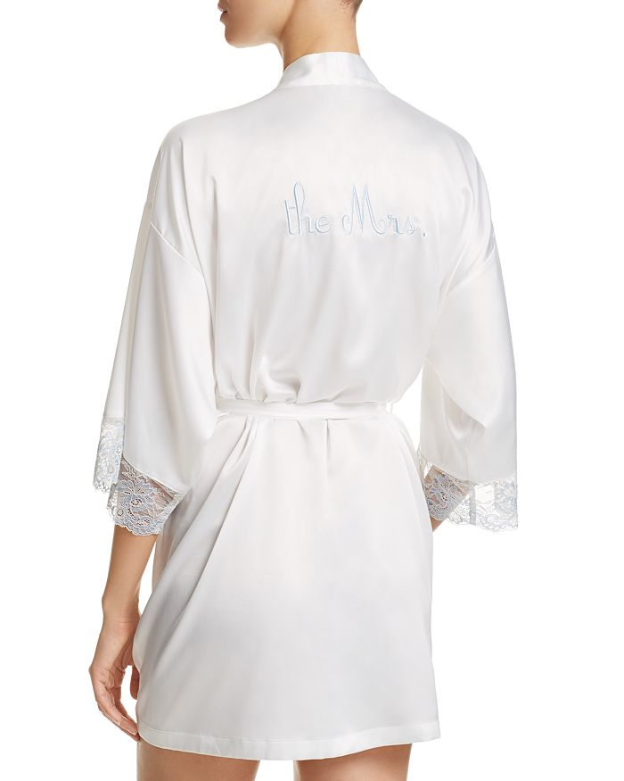 """The Mrs"" Ivory Robe"
