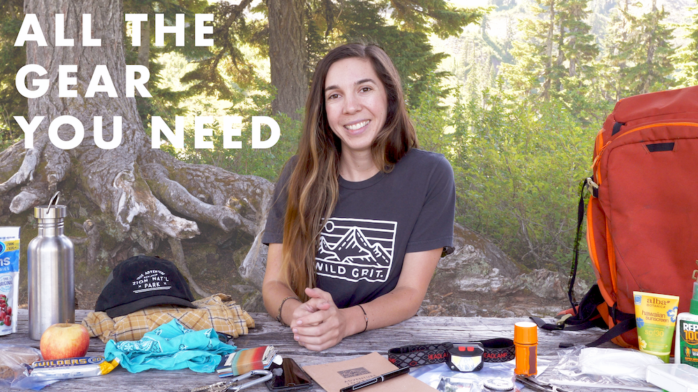 all the gear you need to go day hiking!