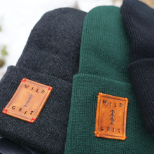 Load image into Gallery viewer, Detail view of adventure beanie patches