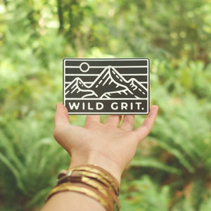 Wild Grit Logo Sticker