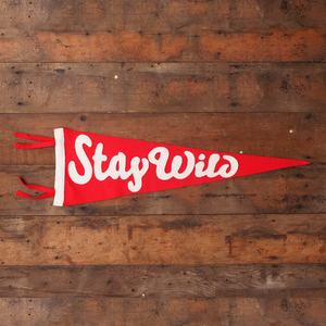 'Stay Wild' Pennant Flag