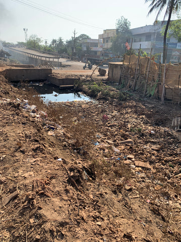 Plastic accumulating in sewage systems