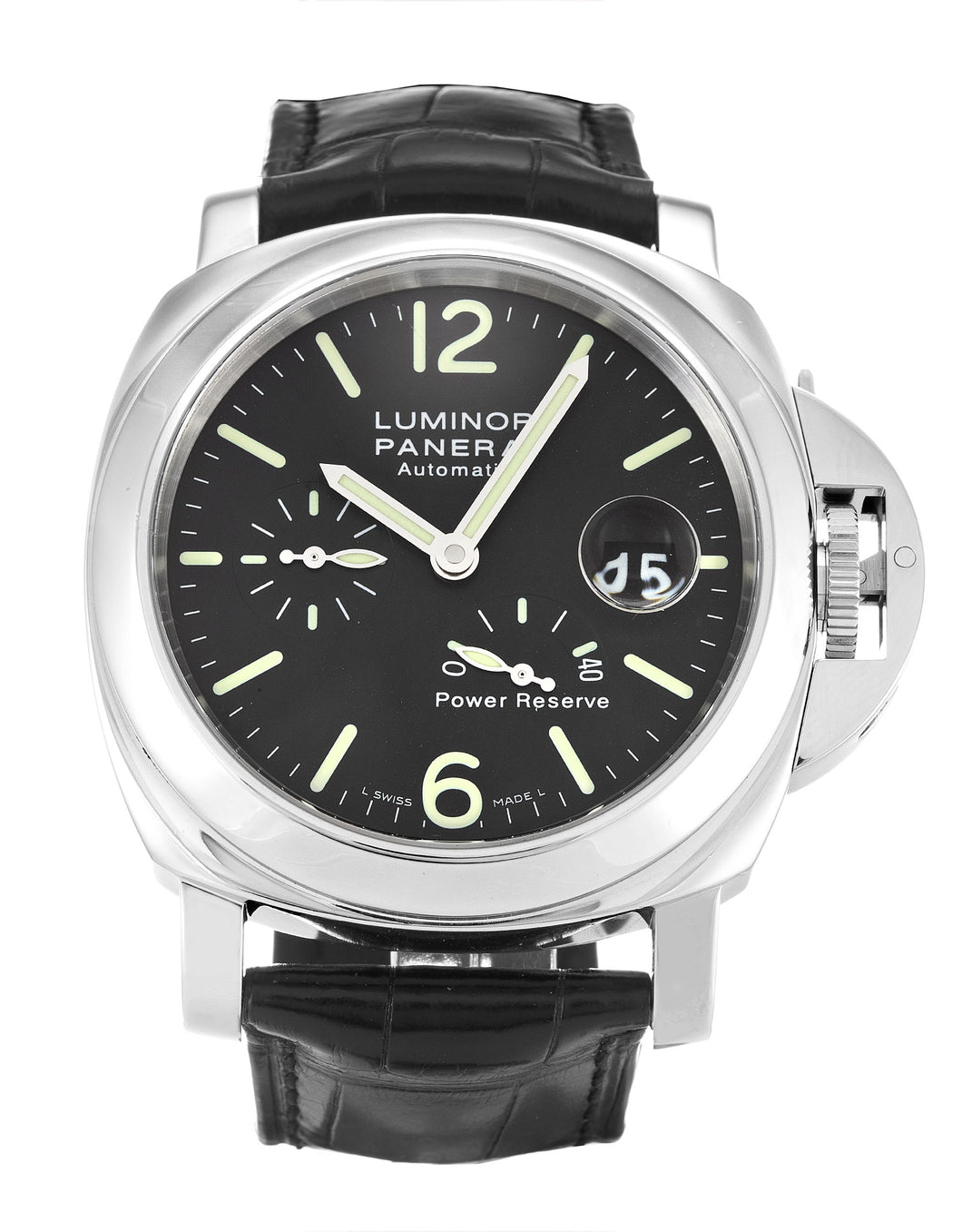 PANERAI LUMINOR POWER RESERVE PAM00090 BLACK BATON DIAL AUTOMATIC