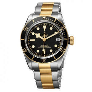 Replica Tudor Heritage Black Bay Steel And Yellow Gold Watch 79733N