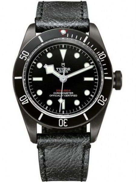 Replica Tudor Heritage Black Bay Dark 41 mm PVD Steel Case Leather Bracelet Watch 79230DK-01