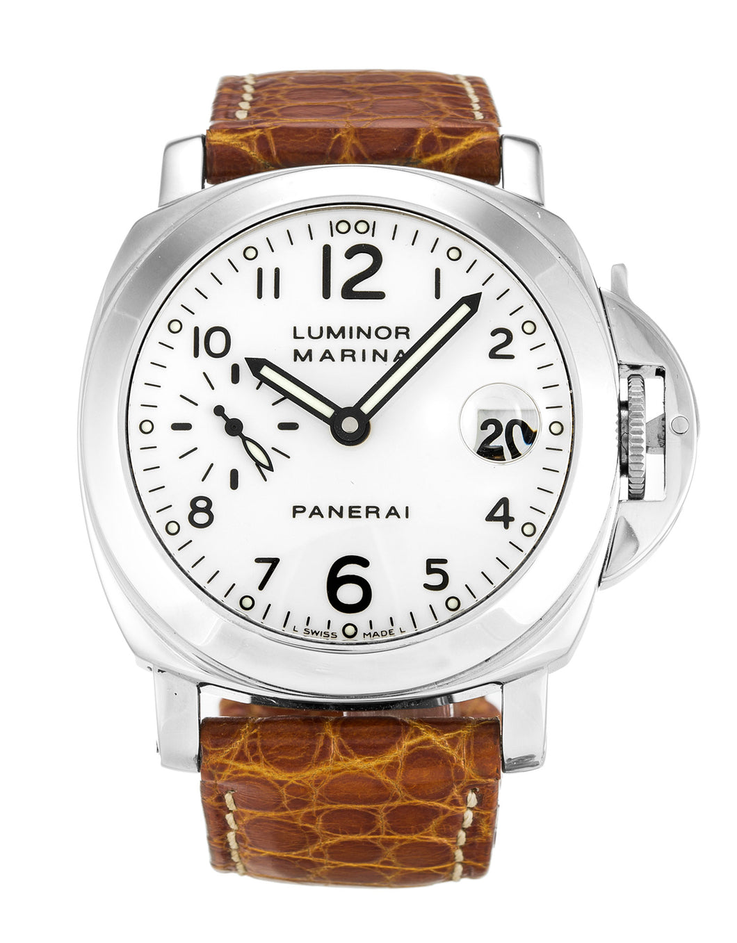 PANERAI LUMINOR MARINA PAM00049 WHITE ARABIC DIAL AUTOMATIC
