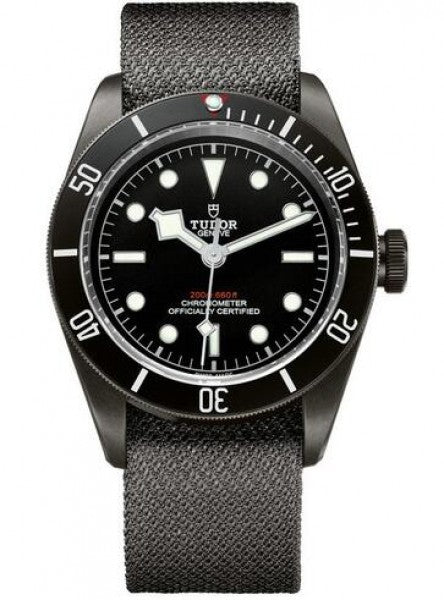Replica Tudor Heritage Black Bay Dark 41 mm PVD Steel Case Fabric Bracelet Watch 79230DK-02