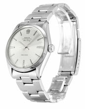Load image into Gallery viewer, ROLEX AIR-KING SILVER BATON DIAL STAINLESS STEEL MENS 5500