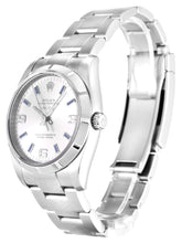 Load image into Gallery viewer, ROLEX AIR-KING SILVER QUARTER ARABIC DIAL STAINLESS STEEL MENS 114210