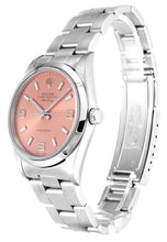 Load image into Gallery viewer, ROLEX AIR-KING PINK QUARTER ARABIC DIAL STAINLESS STEEL MENS 14000