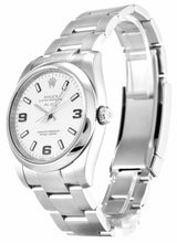 Load image into Gallery viewer, ROLEX AIR-KING WHITE QUARTER ARABIC DIAL STAINLESS STEEL MENS 114200 - Top Watches