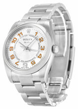 Load image into Gallery viewer, ROLEX AIR-KING SILVER ARABIC DIAL STAINLESS STEEL MENS 114200