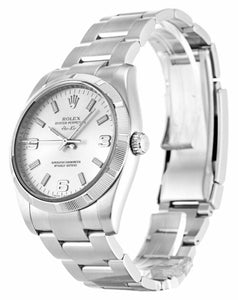 ROLEX AIR-KING SILVER QUARTER ARABIC DIAL STAINLESS STEEL MENS 114210 - Top Watches
