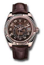 Load image into Gallery viewer, ky-Dweller Everose Gold on Brown Leather Strap 326135
