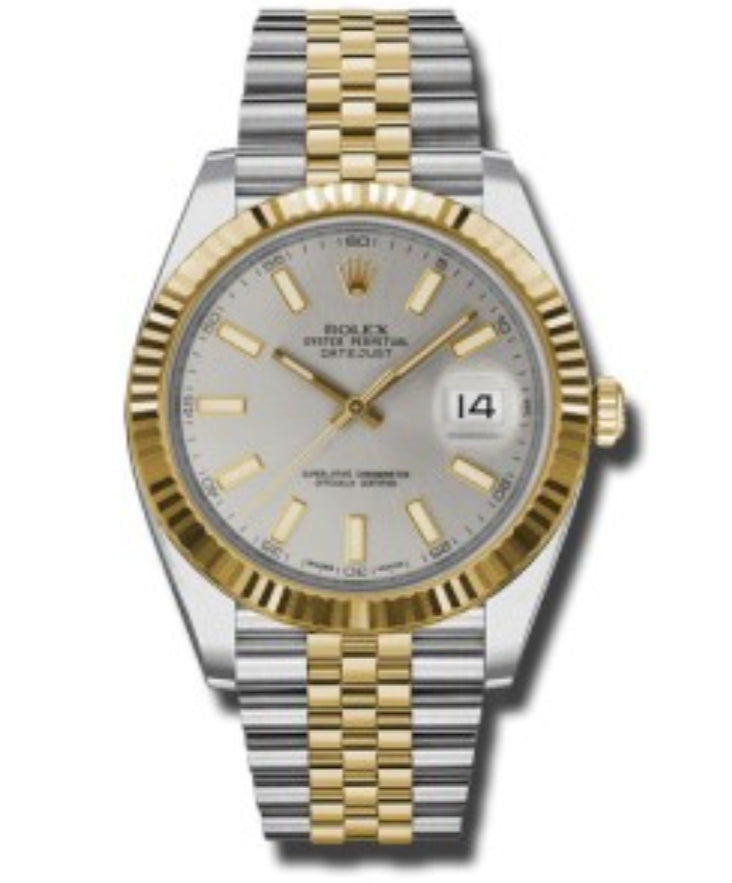 Datejust 2 tone 126333 white/grey dial