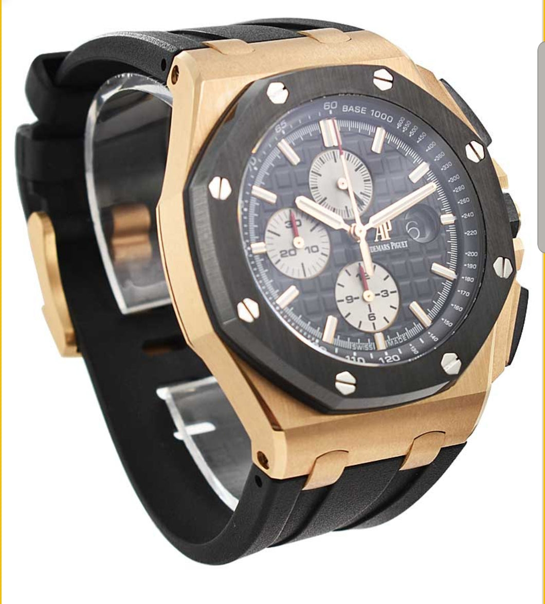 Audemars Piguet  Royal Oak Offshore Chronograph in Rose Gold with Black Ceram