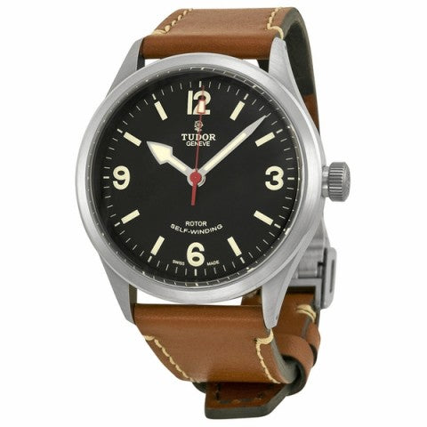 Replica Tudor Heritage Ranger Black Dial Brown Leather Mens Watch Watch 79910-BKASBRLS