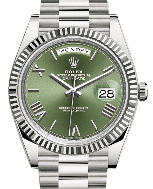 ROLEX DAYDATE MENS AUTOMATIC GREEN DIAL - Top Watches