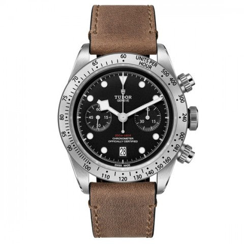 Replica Tudor Heritage Black Bay Chrono Calfskin Strap Watch 79350-001