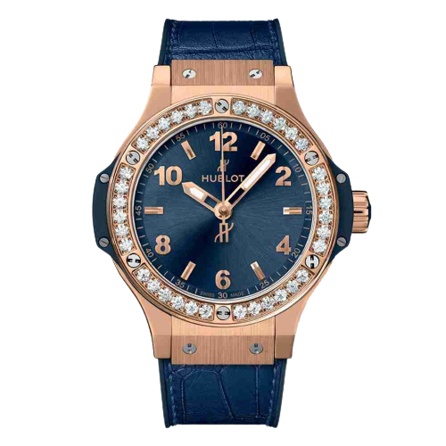 Replica Hublot Big Bang Gold Blue Diamonds 38mm