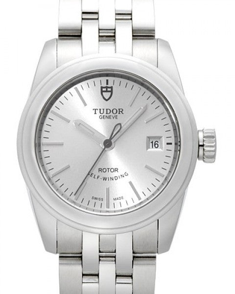 Replica Tudor Glamour Date Mother-Of-Pearl Dial Steel Strap Ladies Watch 51000