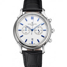 Load image into Gallery viewer, MEN PATEK PHILIPPE CHRONOGRAPH WHITE DIAL