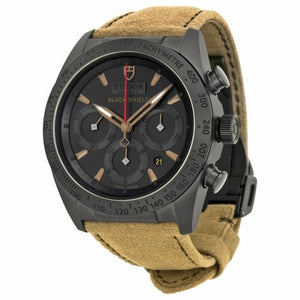 Replica Tudor Fastrider Blackshiled Black Dial Alcantara Strap Mens Watch 42000CN/Alca