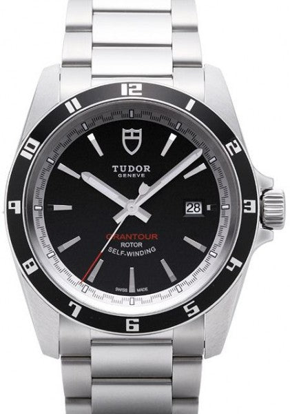 Replica Tudor Grantour Date Black Dial Steel Strap Mens Watch 20500N-1