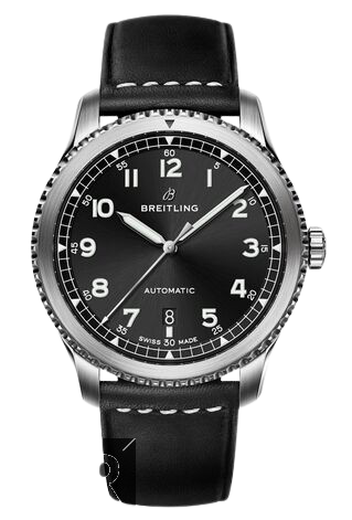 Breitling Navitimer 8 Automatic Black Dial Leather Strap Watch Replica