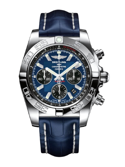 Replica Breitling Chronomat 44 Stainless Steel/Blackeye Blue/Croco/Pin AB011012/C789/731P/A20BA.1