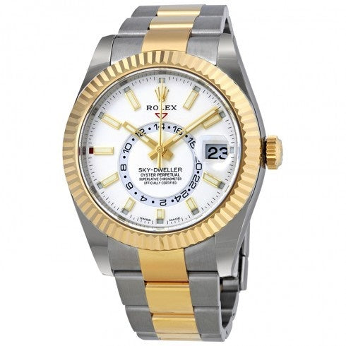 Rolex Sky-Dweller 326933 Champagne- white gold Dial - Top Watches