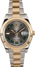 Load image into Gallery viewer, ROLEX DATEJUST II 116333 GREEN ROMAN