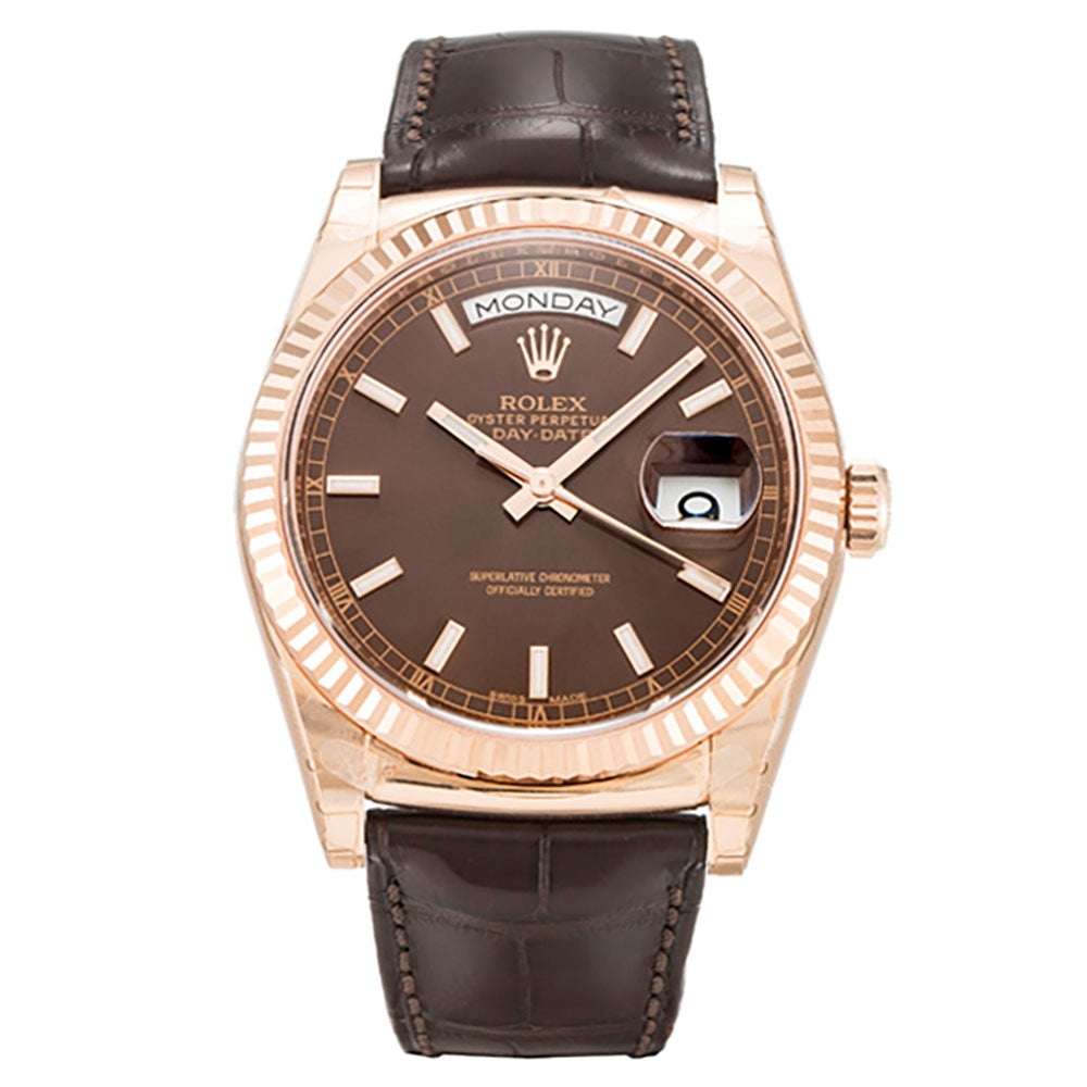 AUTOMATIC ROLEX DAY-DATE 118135 CHOCOLATE - Top Watches
