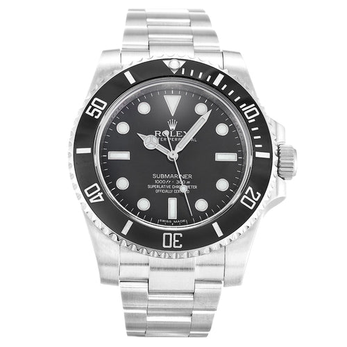 BLACK DIAL ROLEX SUBMARINER 114060 AUTOMATIC
